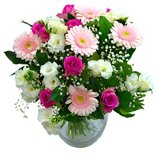 clare-florist-baby-girl-flowers-bouquet-fresh-white-roses-pink-gerbera-and-white-freesia-to-welcome-
