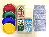 Set mit 3 Schafkopfkarten, 4 Geldschüsserl und 4 Filzuntersetzer | Schafkopf Spielkarten bayerisches Bild