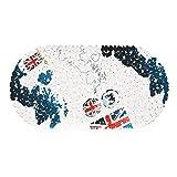 Lumanuby 1x UK Karte und Flagge Anti Rutsch Badewannenmatten mit Saugnäpfen für Dusche oder Badewanne PVC Badewanneneinlage für Familie, Gasthaus, Fitnessstudios, Spas, Saunen Size 69x35cm