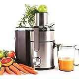 Duronic JE10 Powerful 1000W Large Feeding Tubed Whole Fruit Centrifugal Power Juicer with Jug - 2 Years Free Warranty