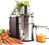 """Duronic JE10 - Centrifuga per frutta e verdura con caraffa - 1000W - colore: argentato - Incluso nella confezione adattatore di tipo """"F"""" a spina italiana"""