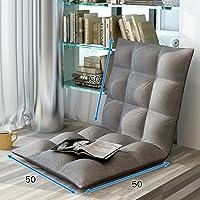 Preisvergleich für Faltbarer Fauler Kleiner Schlafcouch-Schlafzimmer-Klappstuhl-Schlafsaal-Raum-Rückenlehnen-Stuhl, Bodenkissen, Boden-Stuhl, Mehrfarben Wahlweise Freigestellt (Farbe : Gray)