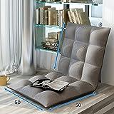 Faltbarer Fauler Kleiner Schlafcouch-Schlafzimmer-Klappstuhl-Schlafsaal-Raum-Rückenlehnen-Stuhl, Bodenkissen, Boden-Stuhl, Mehrfarben Wahlweise Freigestellt (Farbe : Gray)