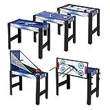 HLC 122*61*80 CM 12 in 1 multifunkniertes Tischspiel--Billard/Basketball/Tischtennis/Hockey/Bogen/Bowling/lagerkugel/Hufeisen/Kragen/Schach/Tic-Tac-Toe/Mikado Spiel