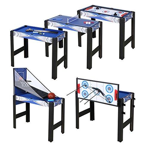 Preisvergleich Produktbild HLC 122*61*80 CM 13 in 1 multifunkniertes Tischspiel--Billard/Basketball/Tischtennis/Hockey/Bogen/Bowling/lagerkugel/Hufeisen/Kragen/Schach/Tic-Tac-Toe/Mikado Spiel/Backgammon