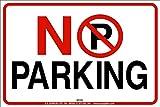 No parking adesivi autoadesivi cartello