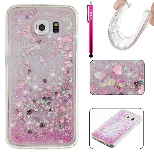 Galaxy S6 Hülle, Firefish Slim Dynamic Flowing [Anti-Rutsch] Flexible TPU [Kratzfestigkeit] Schutzhülle für Mädchen Kinder Passt für Samsung Galaxy S6