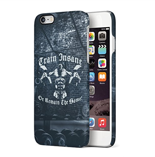 Gym No Pain No Gain Muscles Apple iPhone 6 / iPhone 6S SnapOn Hard Plastic Phone Protective Custodia Case Cover Train Insane