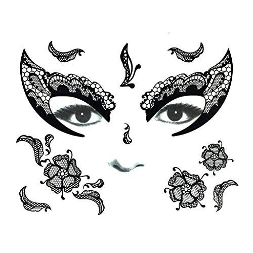 Kind Kostüm Gargoyle - MA87 Halloween Tattoos Makeup Set für Party Kostüm Damen Gesicht Glitzer Gesicht Augen Gesicht (D)