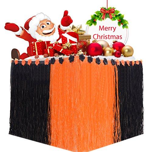 Vamei mantel de tabla de la falda de mesa de Navidad mantel con tira de velcro y cartón de dibujos animados para decoraciones de fiesta