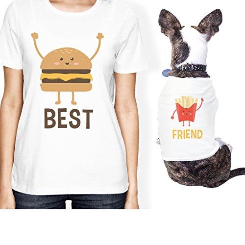 365 Printing Hamburger e Patatine roditori Proprietario Matching Outfits Regalo per lei, ONWER - M/Pet - XL, Infradito Colorati Estivi, con finte Perline