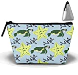 Dolphins Jumping Out of The Water Women Cosmetic Bags Portable Pouch Trapezoidal Storage Bag Travel Bag with Zipper