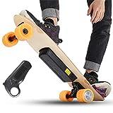 YH-Scooter Skateboard Elettrico, Elettrico Longboard Telecomando Intelligente per Bambini 24V 18650 2.2AH Batteria al Litio 250W Motore ad altissima Potenza, autonomia di Crociera di Oltre 10 km