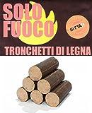 Tronco de madera para chimeneas, estufas, forni. kg. 10