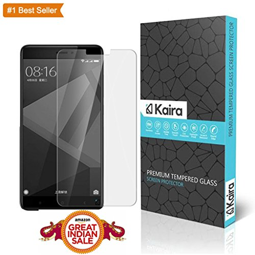 Kaira Premium Coated Tempered Glass Screen Protector Film Guard For Xiaomi Redmi 4,Anti-Explosion With All Finger Print Sensor,Camera Cutting