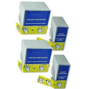 2 Sets Colour Direct Compatible Ink Cartridges Replacement For Epson T036 & T037 - Stylus C42, C42UX, C42 Plus, C42S, C42SX, C44, C44 Plus, C44UX, C46 Printers