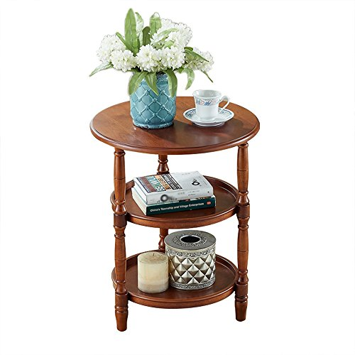 C-T-G Table De Chevet Tables Rondes En Bois Massif Table Basse Tables D'appoint De Canapé Tables Basses Rondes Table Ronde Table Latérale Table D'appoint Mobilier De Table Moderne (taille: 51 * 62.5cm) ( Couleur : D )