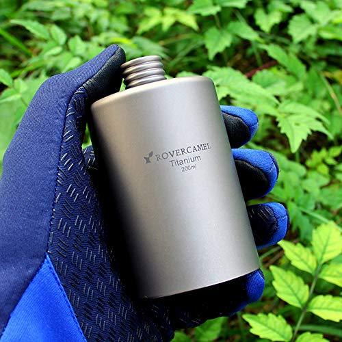 Outdoor Titanium Flask 200ml Pocket Flagon Alkohol Trinken Weinflasche ()