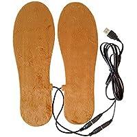 Outstanding® Plantillas calentadas por USB para botas de zapatos Mantienen los pies cálidos Hombres Plantillas (L)