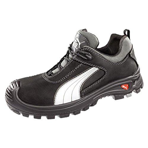 Puma Safety Shoes Cascades Low S3 HRO SRC, Puma 640720-202 Unisex-Erwachsene Espadrille Halbschuhe, Schwarz (schwarz/weiß 202), EU 48