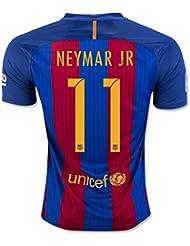 2016201711Neymar Jr Home Jersey de Football de football en rouge pour nouvelle saison