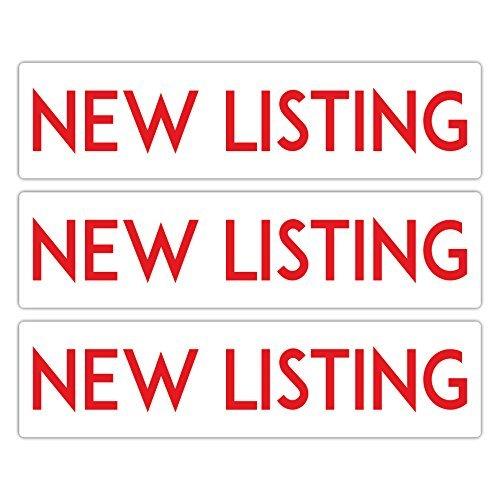 Metall Immobilien Sign Riders Set of 3New Listing: Premium, doppelseitig, langlebig und Gebaut, um letzte, 15,2x 61cm von product80