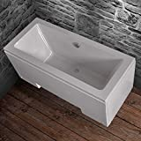 Home Deluxe Badewanne White Glossy Plus