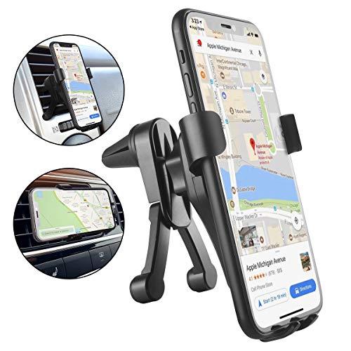 VANZEV Handyhalter fürs Auto, Verbessert Schwerkraft Universal Vent Handyhalterung Auto mit Zwei Ständern Verhindern das Fallen für Huawei Mate 20 P30 Pro P20 Lite Samsung iPhone und alle Smartphones