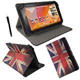 Acer Iconia One 7 B1-730 HD 17,8 cm 7.0 Tablet Pc Tasche mit Standfunktion + Touch Pen - 7 Zoll England Flagge