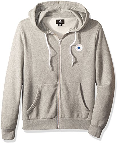 3bdbacc9cab40 Converse Men's Core Full Zip Hoodie Sports (Vintage Grey Heather 035), Large