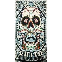 UniqueTowel Toalla de baño Ducha - diseño cráneo Skull Calavera Mexicana ...