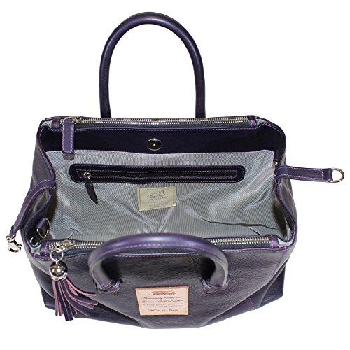 Terrida Marco Polo Handtasche Größe small - LE1074 (Violett) Violett