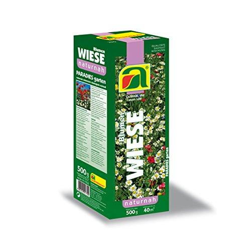 Prato fiorito Austrosaat | Miscela di fiori selvatici con erbe ed erbe selvatiche (semi a grana fine confezionati separatamente) | miscela perenne resistente | vicino alla natura | ricco di specie | e