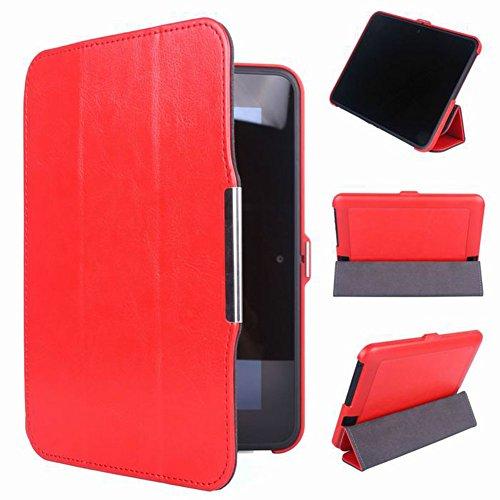 Zhuhaixmy Red Halter Leder Protector Pouch Fall Decken Tablette-Kasten Cover Case Für 7
