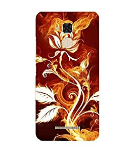 For Asus Zenfone 3 Max ZC520TL burning flower ( burning flower, flower, burning, leaf ) Printed Designer Back Case Cover By CHAPLOOS