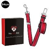 Pets Lovers Club Premium Hunde-Sicherheitsgurt | Idealer Autogurt-Adapter für Hunde-Geschirr oder Halsband | Perfekter Anschnallgurt für höchste Sicherheit | passend für alle Hunderassen (55-94 cm)
