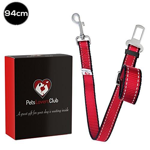 Pets Lovers Club Laisse Ceinture de Sécurité pour Chien/Chat / Animaux de Compagnie pour Les sièges de Voiture (35-63cm ou 55-94cm)