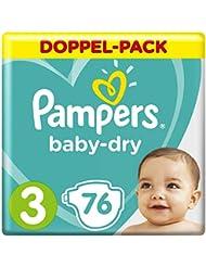 Pampers Baby-Dry Windeln, Gr.3, für Atmungsaktive Trockenheit, 76 Stück
