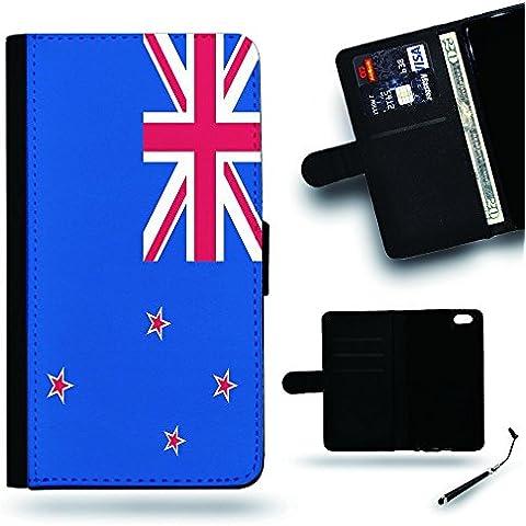 Per Cellulare Negozio//2016Coppa Coppa del Mondo Case Cover Protezione Completa Custodia a portafoglio in pelle Slot per Apple Iphone 6Iphone 6s iPhone6/iphone6s/Bandiera della Nuova Zelanda