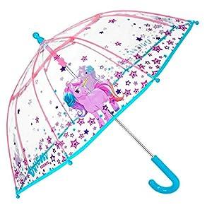 Paraguas Transparente Unicornio Niña -