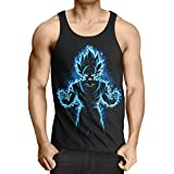 style3 Songoku Max Power Herren Tank Top T-Shirt turtle ball z roshi dragon, Größe:M
