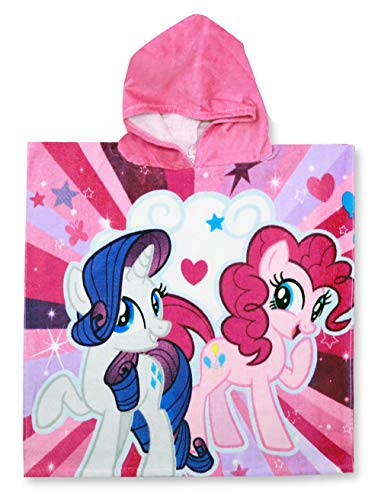 Setino 821-327 My Little Pony Kinder Bade-Poncho mit Kapuze 55 x 80cm (Kapuzen-badetuch Minnie)
