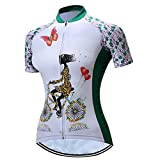 LBY LBYRadfahren Jersey Damen Kurzarm Jacke Top Radfahren Shirt Quick Dry Breathable Bike Clothing, White, M