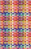 Klebefolie Möbelfolie Basket Korbgeflecht bunt - Dekorfolie selbstklebend 45x200 cm - moderne Selbstklebefolie mit bunten Dekor - selbstklebende Folie - Bastelfolie