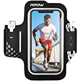 Mpow Running Armband [Upgraded Version] for iPhone XR XS X 8 7 Samsung S9 S8 S7 Huawei P9【Up To 6.2 Inches】, Sweatproof & Machine Washable Armband with Earphones, Key Holder and Card Pocket