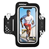 Mpow Running Armband Upgraded Version for iPhone 11 11 Pro XR XS X 8 7 Samsung S9 S8 S7 Huawei P9 Up To 6.2 Inches, Sweatproof Machine Washable Armband with Earphones, Key Holder and Card Pocket