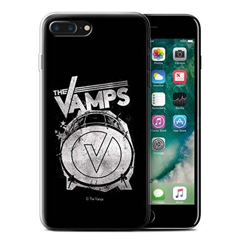Offiziell The Vamps Hülle / Gel TPU Case für Apple iPhone 7 Plus / Aufwachen! Muster / The Vamps Graffiti Band Logo Kollektion Bassdrum