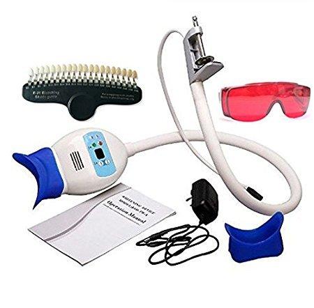Tragbar Desktop LED Zahnwei? Lampe mit 2 Schutzbrillen und 20 Farben Shade Guide, verwenden in Sch?nheitssalon Dental Klinik CE-Zulassung