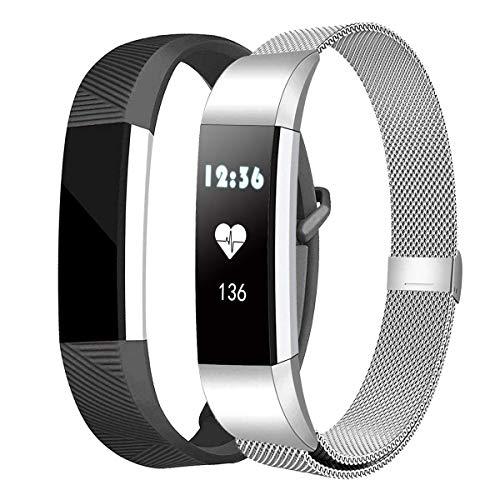 ZI YOUREN Kompatibel für Fitbit Alta/Alta HR Armband Kleine Große, Metall Armband, Edelstahl Sport Ersatzarmband für Frauen Männer ( Silber-S)