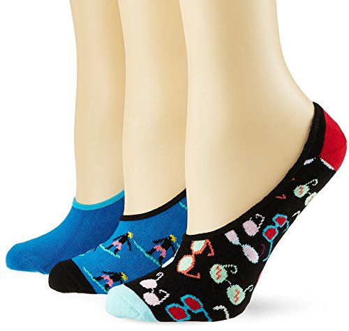 Happy Socks Limer, Calcetines Cortos para Mujer (Pack de 3) Happy Socks